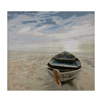 Photorealism Jacquard Wall Décor/Panel Beach & Boat