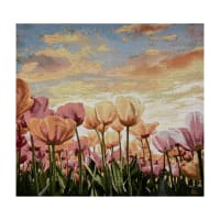 Photorealism Jacquard Wall Décor/Panel Tulips
