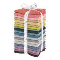 Kaufman Essex Yarn Dyed Bright 20 Pc Fat Quarters Bright/Multi