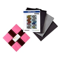 "Kaufman Kona Cotton North & South 88"" Quilt Kit Multi"