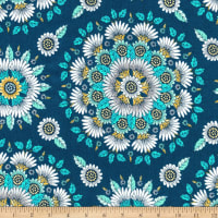 Kaufman Delphine Medallion Flowers Breeze