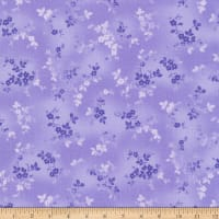 Kaufman Woodside Blossom Flowers Purple