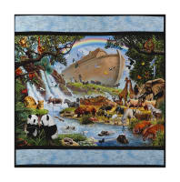 "Kaufman Inner Faith 38"" Panel Nature Noah's Ark"