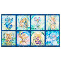 "Kaufman Morningmoon Fairies 24"" Panel Garden"
