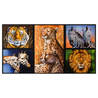 "Kaufman Nature Studies Wild 24"" Panel Animals"