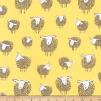 Kaufman Wooley Sheep Yellow
