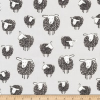 Kaufman Wooley Sheep Grey