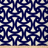 Schumacher Indoor/Outdoor Santorini Print Marine