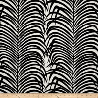 Schumacher Indoor/Outdoor Zebra Palm Black