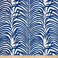 Schumacher Indoor/Outdoor Zebra Palm Navy