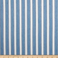 Schumacher Antique Ticking Stripe Linen Bleu