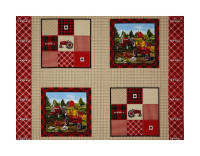 "Farmall Plaid Pillow 36"" Panel Multi"