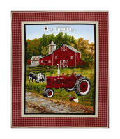 "Farmall Country Check 36"" Panel Multi"