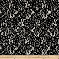 Corded Lace with Scallop Black