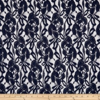 Floral Corded Lace Navy