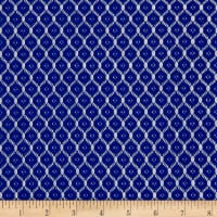 Small Circles Lace Royal Blue