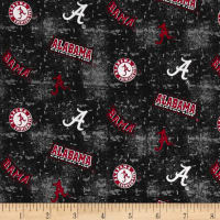 NCAA University Of  Alabama Crimson Tide Tossed Distressed Logo