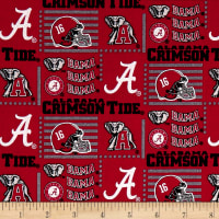NCAA University Of Alabama Crimson Tide Patch Logos Allover