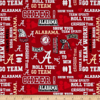 NCAA University Of Alabama Crimson Tide Glitter Allover