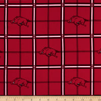 NCAA University Of Arkansas Razorbacks Flannel Plaid