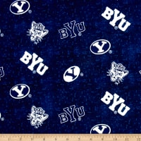 NCAA Brigham Young University Distressed Logo Flannel