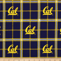 NCAA University of California Golden Bears Flannel Plaid
