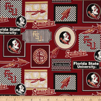 NCAA Florida State Seminoles Packed Patches Allover
