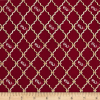 NCAA Florida State University Trellis Logo Allover