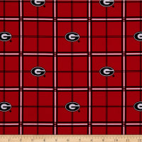 NCAA Georgia Bulldogs Flannel Plaid Red