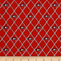 NCAA Georgia Trellis Logo Allover Red