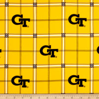 NCAA Georgia Tech Flannel Plaid Yellow