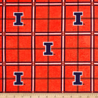 NCAA Illinois Flannel Plaid Orange