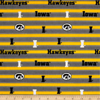 NCAA Iowa Polo Stripe Allover Yellow/White