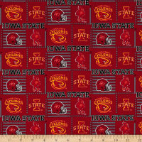 NCAA Iowa State Patch Logos Allover Red