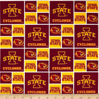 NCAA Iowa State Checked Logo Allover Yellow