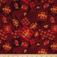 NCAA Iowa State Patch Allover Red