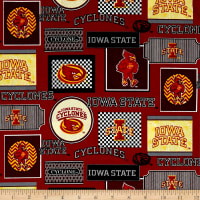 NCAA Iowa State Packed Patches Allover Red/Yellow