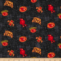 NCAA Iowa State University Flannel Distressed Logo Red
