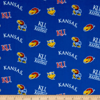 NCAA Kansas Jayhawks Tossed Logos Blue