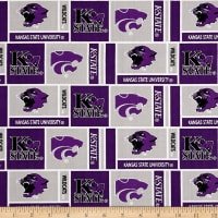 NCAA Kansas State Wildcats Herringbone Box Purple