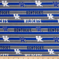 NCAA University of Kentucky Polo Stripe Allover Blue