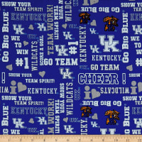 NCAA University of Kentucky Glitter Allover Blue