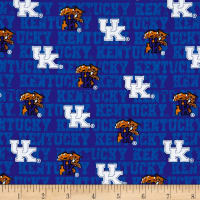 NCAA University of Kentucky Distressed Logo Allover Blue