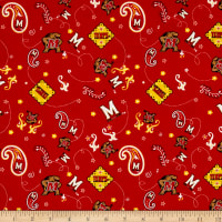 NCAA Maryland Bandana Prints Red