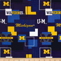 NCAA University of Michigan Blocks Allover Blue/Yellow