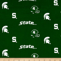 NCAA Michigan State University Herringbone Allover Green