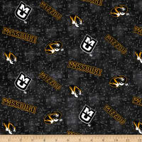NCAA University of Missouri Flannel Distressed Logo Grey