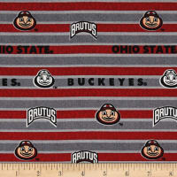 NCAA Ohio State Polo Stripe Allover Red/Black