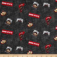 NCAA Ohio State University Flannel Distressed Logo Grey