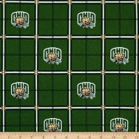 NCAA Ohio State University Bobcats Flannel Plaid Green